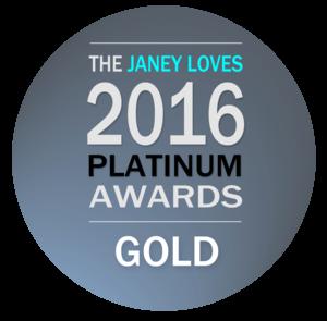 The Janey Loves 2016 Awards - Gold winner
