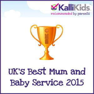 Kallikids Uk's Best Mum and Baby Service 2015