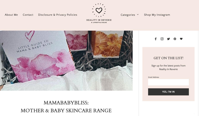 MamaBabyBliss: Mother & Baby Skincare Range